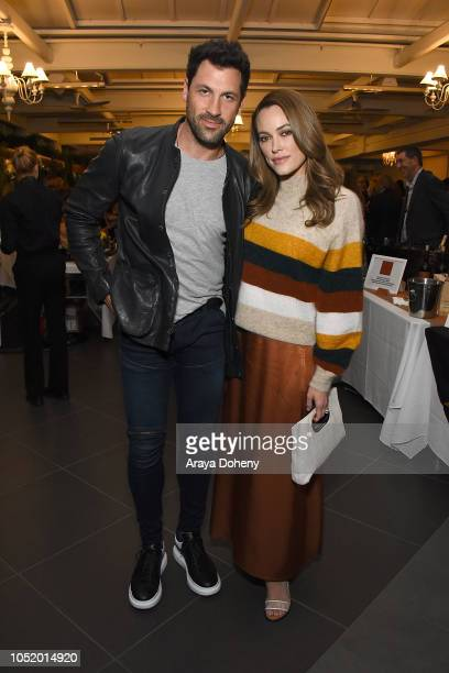 Maks Chmerkovskiy and Peta Murgatroyd attend the March of Dimes Signatures Chefs Auction Los Angeles on October 11 2018 in Beverly Hills California