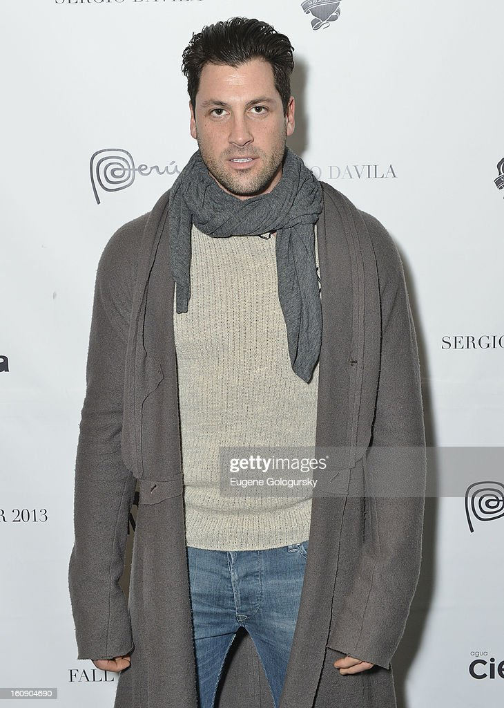 Maksim Chmerkovkskiy attends Sergio Davila during Fall 2013 Mercedes-Benz Fashion Week at The Studio at Lincoln Center on February 7, 2013 in New York City.