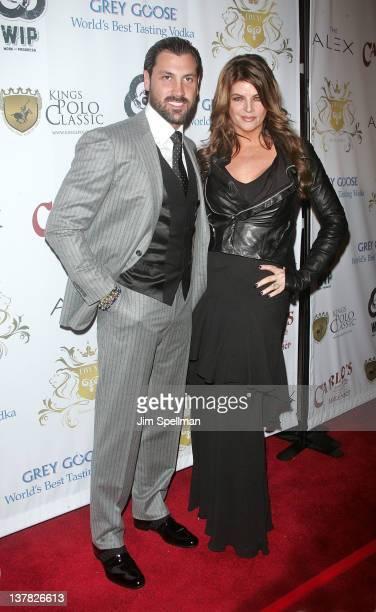 Maksim Chmerkovskiy and actress Kirstie Alley attend Maksim Chmerkovskiy's Ballroom Birthday Bash at the Hammerstein Ballroom on January 27 2012 in...