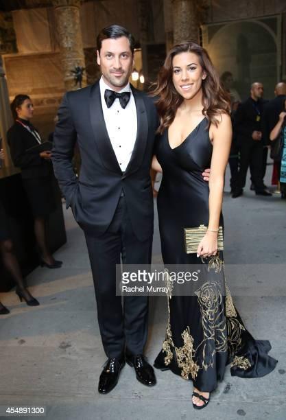 Maksim Chmerkovskiy and Devin Brugman attend the Celebrity Fight Night gala celebrating Celebrity Fight Night In Italy benefitting The Andrea Bocelli...