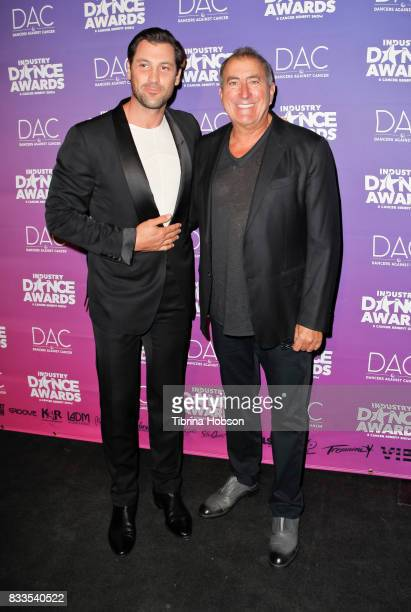 Maksim Chmerkovskiy and Kenny Ortega attend the 2017 Industry Dance Awards and Cancer Benefit Show at Avalon on August 16 2017 in Hollywood California
