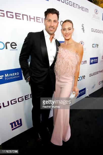 Maksim Chmerkovskiy and Peta Murgatroyd attend Brent Shapiro Foundation Summer Spectacular 2019 at The Beverly Hilton Hotel on September 21 2019 in...