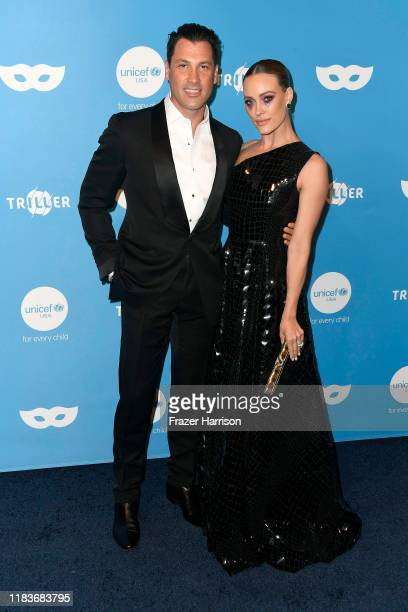 Maksim Chmerkovskiy and Peta Murgatroyd attend the UNICEF Masquerade Ball at Kimpton La Peer Hotel on October 26 2019 in West Hollywood California