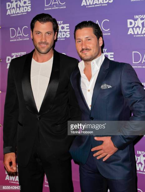 Maksim Chmerkovskiy and Val Chmerkovskiy attend the 2017 Industry Dance Awards and Cancer Benefit Show at Avalon on August 16 2017 in Hollywood...