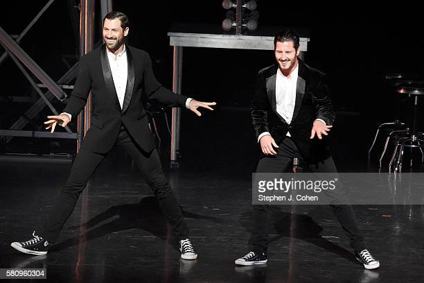Maksim Chmerkovskiy and Valentin Chmerkovskiy performs at Whitney Hall on July 25 2016 in Louisville Kentucky