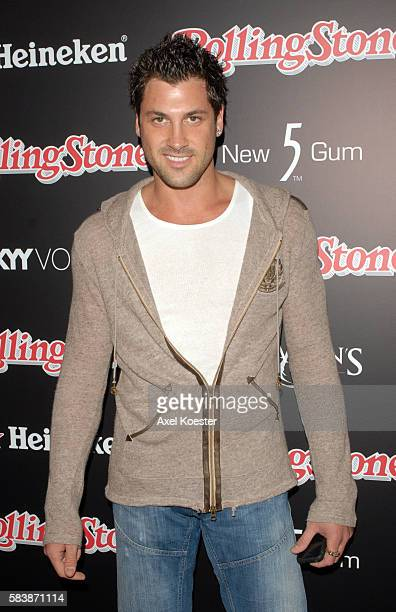 Maksim Chmerkovskiy arrives to the Rolling Stone Magazine celebration of their Annual Hot List at Crimson & Opera in Hollywood.
