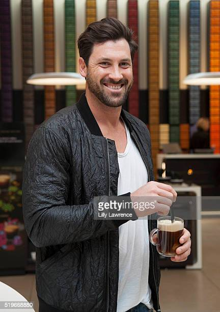 Maksim Chmerkovskiy reveals the secret ingredient he puts in his coffee on Dysh app at Nespresso Beverly Hills Boutique at Nespresso Boutique on...
