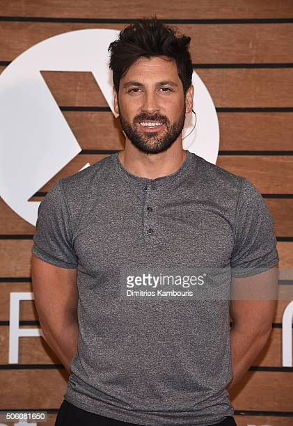 Maksim Chmerkovskiy teaches shoppers dance moves to help keep active fit at JCPenney on January 21 2016 in New York City