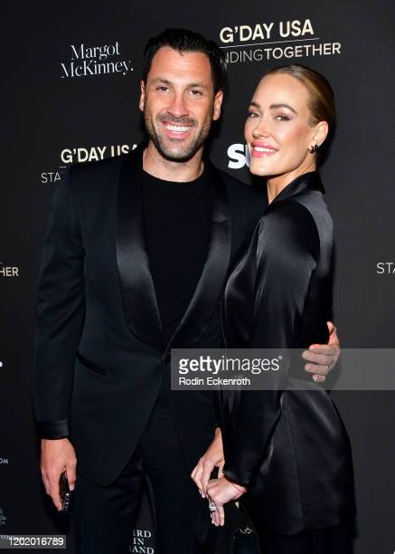 Maksim Chmerkovsky and Peta Murgatroyd attend G'Day USA 2020 | Standing Together Dinner at the Beverly Wilshire Four Seasons Hotel on January 25 2020...