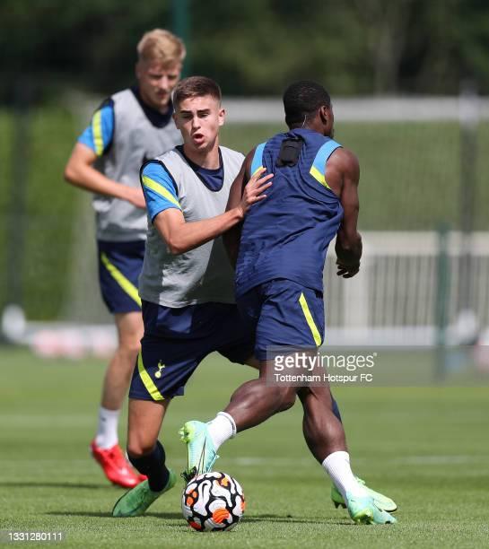 Maksim Paskotsi of Tottenham Hotspur during the Tottenham Hotspur pre-season training session at Tottenham Hotspur Training Centre on July 29, 2021...