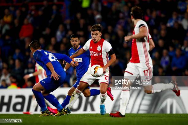 Maksimovic of Getafe CF Lisandro Martinez of Ajax during the UEFA Europa League match between Getafe v Ajax at the Coliseum Alfonso Perez on February...