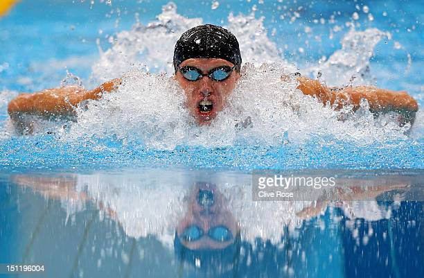 Maksym Veraska of Ukraine competes in the Men's 200m Individual Medley SM12 final on day 5 of the London 2012 Paralympic Games at Aquatics Centre on...