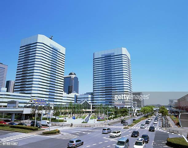makuhari new city, chiba, japan - chiba city fotografías e imágenes de stock