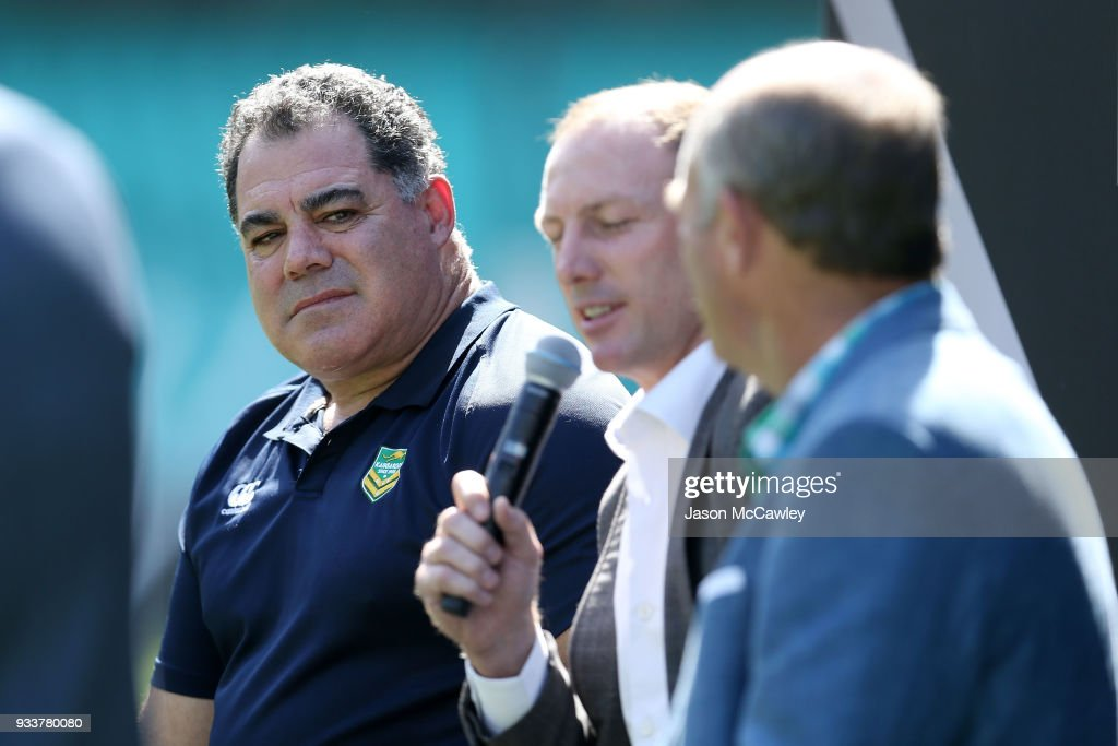 Mal Meninga looks on during the Rugby League Hall of Fame and Immortals Announcement at Sydney Cricket Ground on March 19, 2018 in Sydney, Australia.
