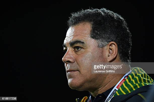Mal Meninga of Australia looks on during the Four Nations match between the Australian Kangaroos and Scotland at KCOM Lightstream Stadium on October...