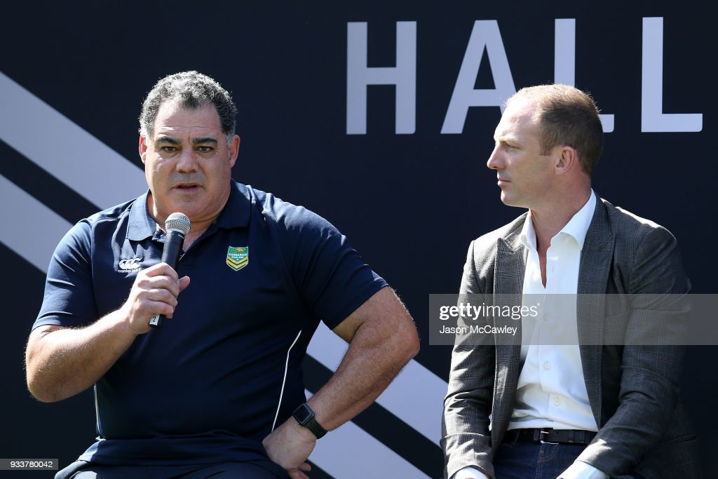 Mal Meninga speaks during the Rugby League Hall of Fame and Immortals Announcement at Sydney Cricket Ground on March 19, 2018 in Sydney, Australia.