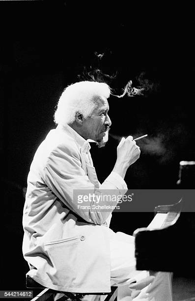 Mal Waldron, piano, performs on May 27th 1995 at the BIM huis in Amsterdam, the Netherlands.