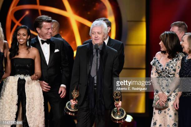 Mal Young accepts the Outstanding Drama Series award for 'The Young and the Restless' with cast and crew onstage at the 46th annual Daytime Emmy...