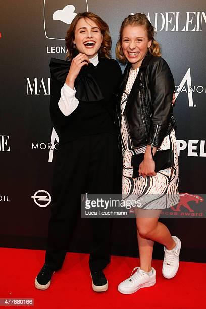 Mala Emde and Anna Lena Klenke attend New Faces Award Film 2015 at E-Werk on June 18, 2015 in Berlin, Germany.
