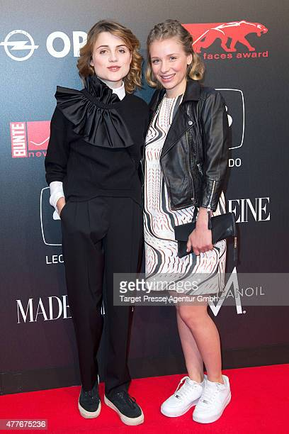 Mala Emde and Anna Lena Klenke attend the New Faces Award Film 2015 at ewerk on June 18, 2015 in Berlin, Germany.