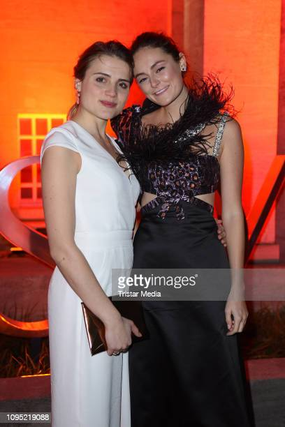 Mala Emde and Lea van Acken attend the Berlin Opening Night by GALA UFA Fiction during 69th Berlinale International Film Festival at Hotel Das Stue...