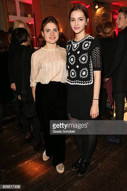 Mala Emde and Lisa Vicari during the New Faces Award Style 2016 at 'The Grand' on November 16 2016 in Berlin Germany