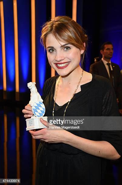Mala Emde attends the Bayerischer Fernsehpreis 2015 at Prinzregententheater on May 22 2015 in Munich Germany