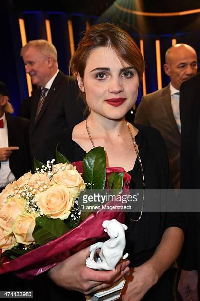 Mala Emde attends the Bayerischer Fernsehpreis 2015 at Prinzregententheater on May 22, 2015 in Munich, Germany.