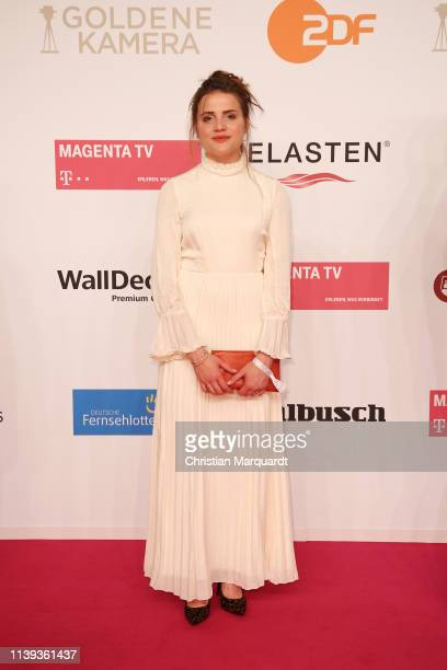Mala Emde attends the Goldene Kamera at Tempelhof Airport on March 30 2019 in Berlin Germany