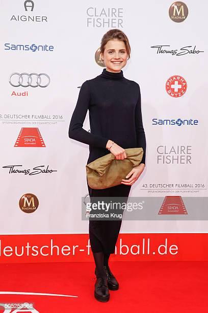 Mala Emde during the German Film Ball 2016 at Hotel Bayerischer Hof on January 16, 2016 in Munich, Germany.