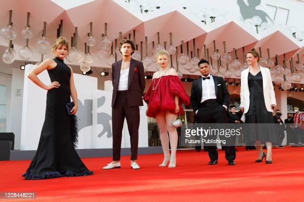 Mala Emde, Noah Saavedra, Luisa-Celine Gaffron, Hussein Eliraqui attends the red carpet of 'Und Morgen Die Ganze Welt And Tomorrow The Entire World'...