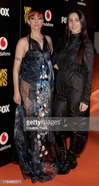Mala Rodriguez and Nawja Nimri attend Najwa Nimri And Mala Rodriguez Concert at Barceo Theatre on March 07, 2019 in Madrid, Spain.