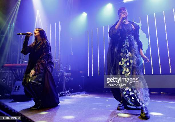 Mala Rodriguez and Nawja Nimri perform in concert at Barceo Theatre on March 07, 2019 in Madrid, Spain.