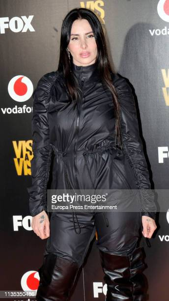 Mala Rodriguez attends Najwa Nimri and Mala Rodriguez Concert at Barcelo Theatre on March 07, 2019 in Madrid, Spain.