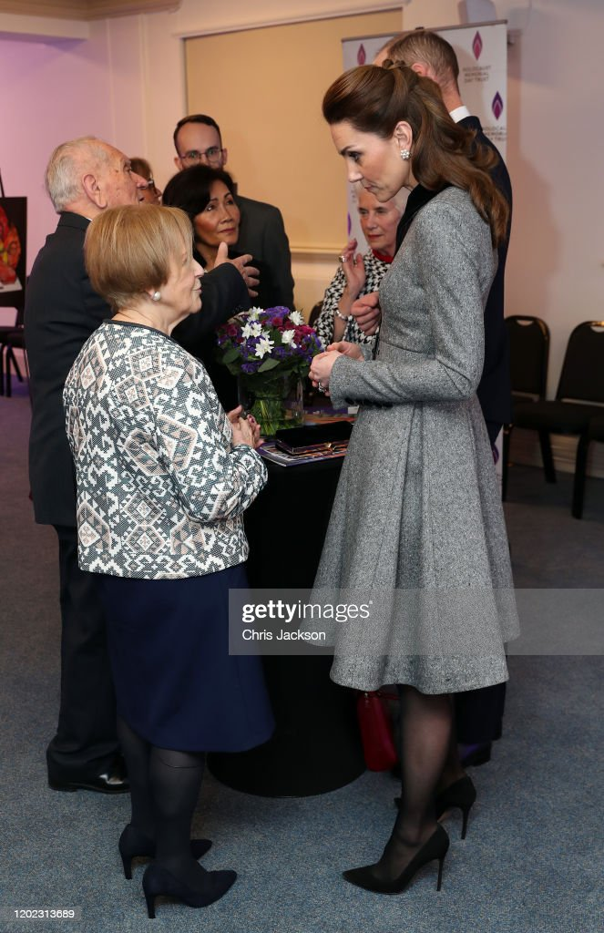 The Duke And Duchess Of Cambridge Attend The UK Holocaust Memorial Day Commemorative Ceremony : Nachrichtenfoto