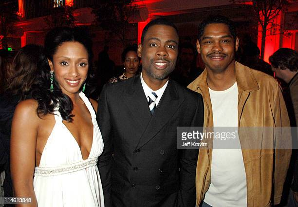 Malaak Compton Chris Rock and Lance Crouther during I Think I Love My Wife Los Angeles Premiere After Party in Los Angeles California United States