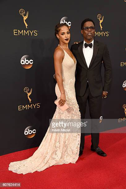 Malaak Compton Rock and comedian Chris Rock attend the 68th Annual Primetime Emmy Awards at Microsoft Theater on September 18 2016 in Los Angeles...