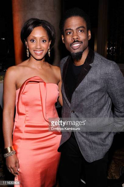 Malaak ComptonRock and Chris Rock attend the 2nd annual Steve Harvey Foundation Gala at Cipriani Wall Street on April 4 2011 in New York City