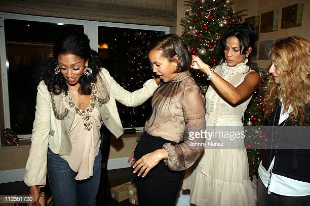 Malaak RockErica Reid and Crystal Mc Carary during Erica Reid and Edmondo Castillo Host A Holiday Shopping Night to Support the Liya Kebede...
