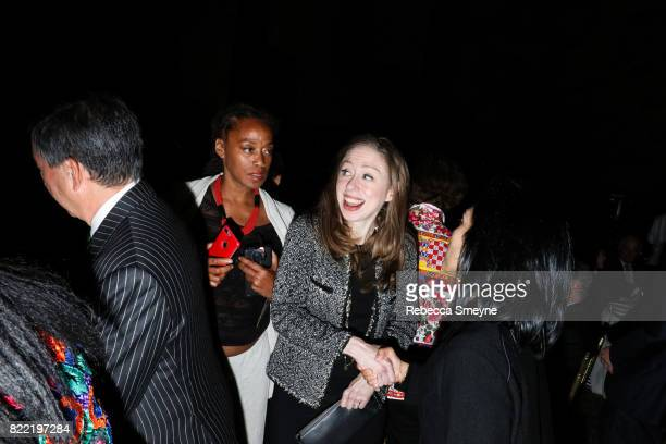 Malaak Shabazz and Chelsea Clinton attend the Gordon Parks Foundation Awards Dinner at Cipriani 42nd on June 6 2017 in New York City