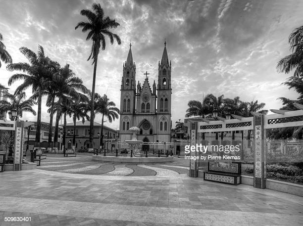 malabo´s cathedral - malabo stock pictures, royalty-free photos & images