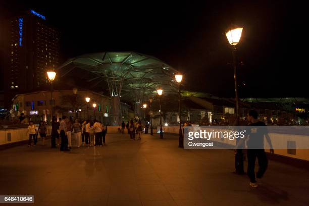 malakka brug in singapore - gwengoat stockfoto's en -beelden
