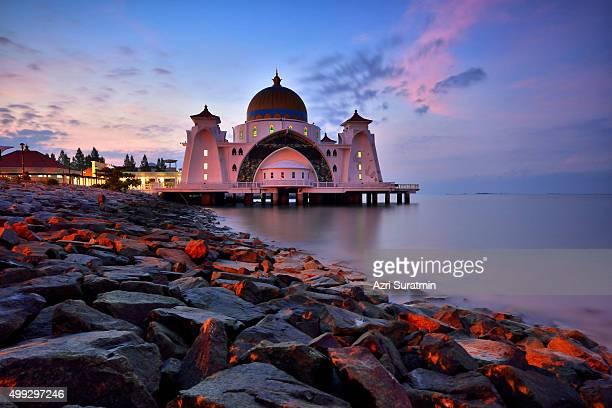 Malacca Straits Mosque (Masjid Selat Melaka), Malacca, Malaysia