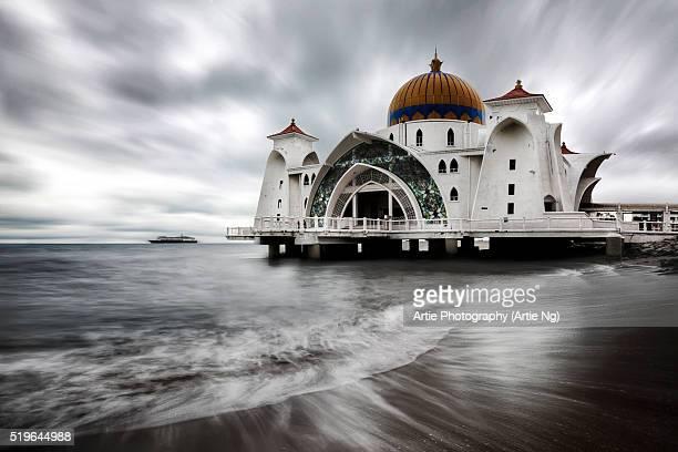 Malacca Straits Mosque (Masjid Selat Melaka), Malaysia