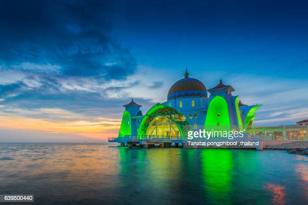Malacca Straits Mosque, Malaysia.
