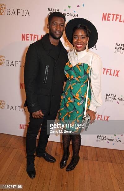 Malachi Kirby and Seraphina Beh attend the BAFTA Breakthrough Brits celebration event in partnership with Netflix at Banqueting House on November 7...