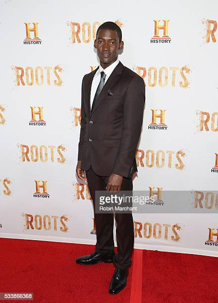 Malachi Kirby attends 'Roots' Night One Screening at Alice Tully Hall Lincoln Center on May 23 2016 in New York City