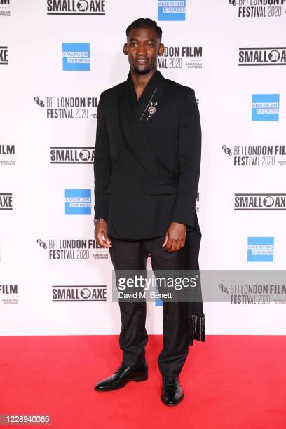 """Malachi Kirby attends the European Premiere of """"Mangrove"""", the Opening Night screening of the 64th BFI London Film Festival, at BFI Stephen Street on..."""