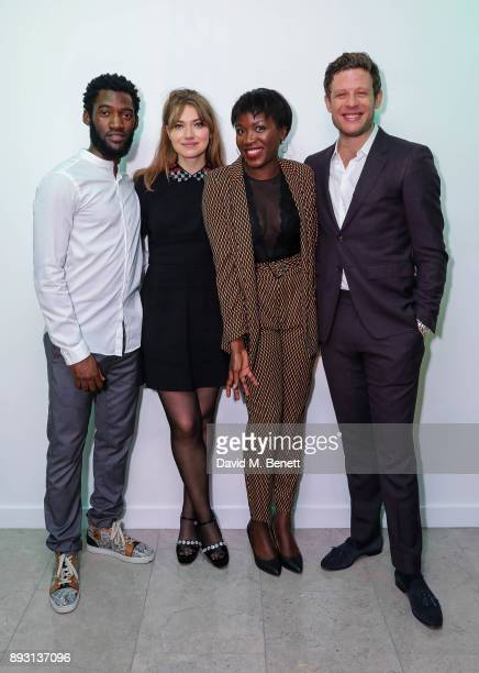 Malachi Kirby Imogen Poots Faith Alabi and James Norton attend the press night after party for the Donmar's production of 'Belleville' at The...