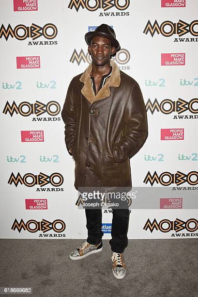 Malachi Kirby poses backstage for the PreMOBO Awards Show at Cadogan Hall on October 27 2016 in London England